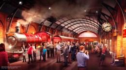 Platform 934 and the Hogwarts Express - Concept Art