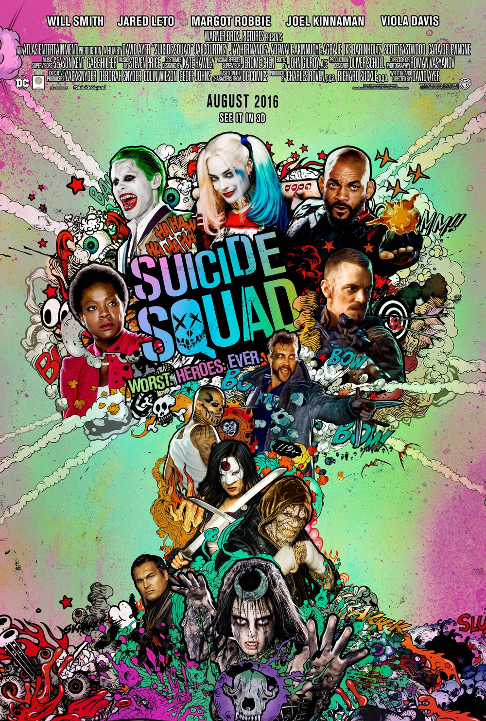 Main Artwork for Suicide Squad Revealed