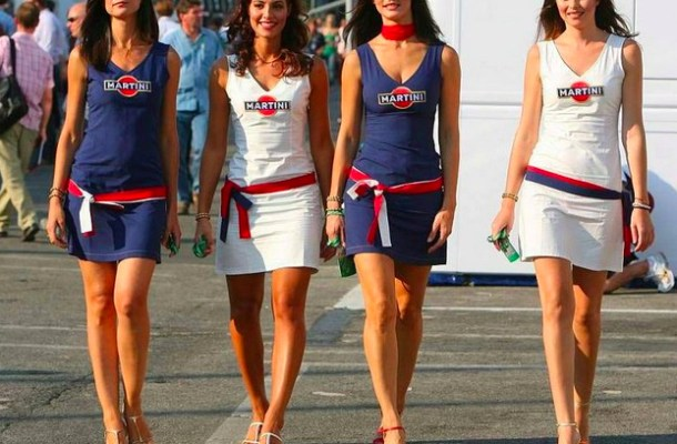 martini racing girls