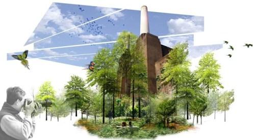 battersea poerstation landscape rendering