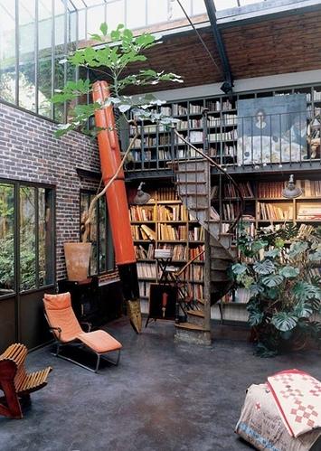 bookshelves garden glasshouse