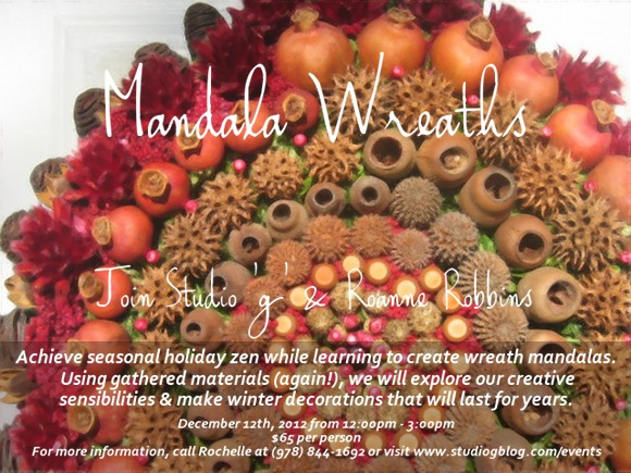 studio g mandala wreath making class