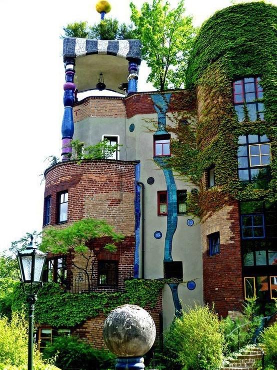 Hundertwasser house in vienna austria