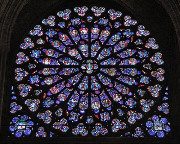 Christian mandala - rose window Notre dame cathedral