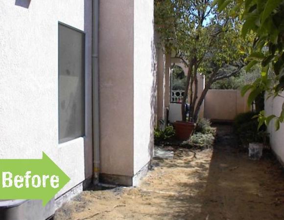 side yard, before, makeover, enhance