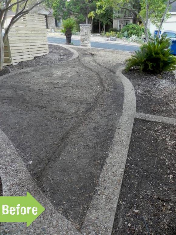 before, dirt, bare, landscape, frontyard