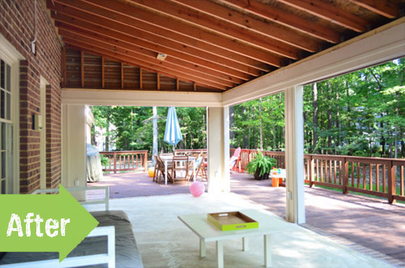 before, after, makeover, sunroom, porch,