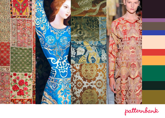Patternbank Historical Adornment Print Trend A/W 13/14
