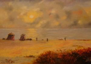 153- tramonto sul mare 50 x 70