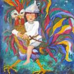 293 -  Bimbo con Gallo 60x70