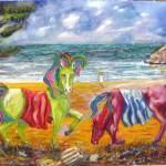 305 - Balio e Xanto i cavalli di Achille 50x70