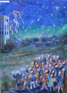 317 - La notte di S.Lorenzo 50x70