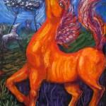 326 - Plenilunio e cavallo 70x100