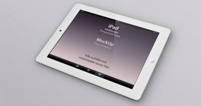 Psd iPad Perspective Mockup   Psd Mock Up Templates   Pixeden