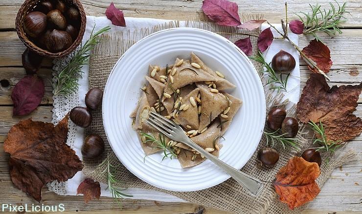 Ravioli di Castagne con Pinoli e Rosmarino