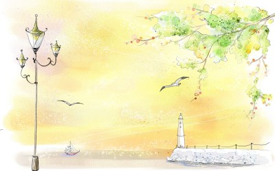 Landscape color drawing HD Wallpaper | PixelsTalk.Net