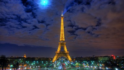 Eiffel Tower wallpapers at Night | PixelsTalk.Net