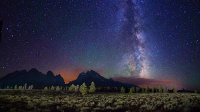Night Mountain Wallpaper HD | PixelsTalk.Net