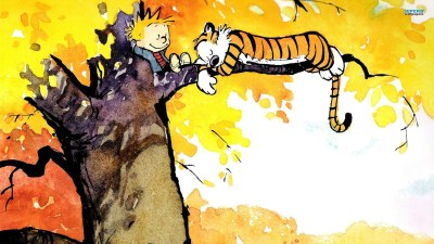Cute Calvin and Hobbes Wallpapers | PixelsTalk.Net