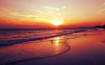 Sunset Beaches HD Images | PixelsTalk.Net