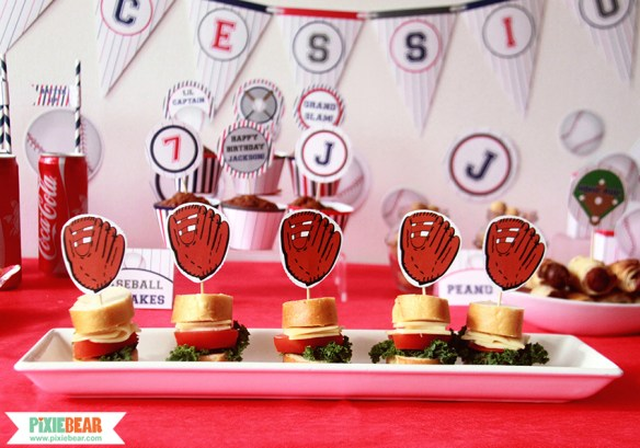 MLB Party Decorations by Pixiebear.com
