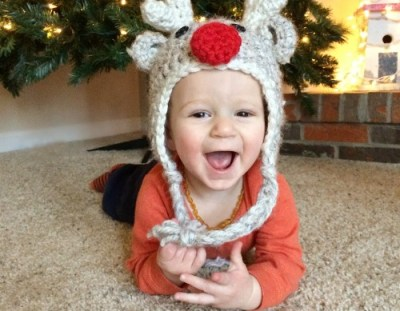 Free Pattern: Crochet Reindeer Hat – Toddler Size