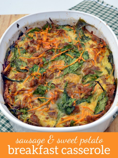 Sausage and Sweet Potato Breakfast Casserole | Plaid and Paleo