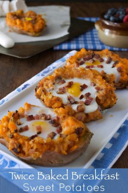 Twice Baked Breakfast Sweet Potato | Plaid & Paleo