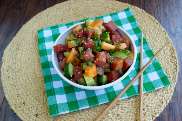 Summer Ahi Tuna Salad | Plaid and Paleo