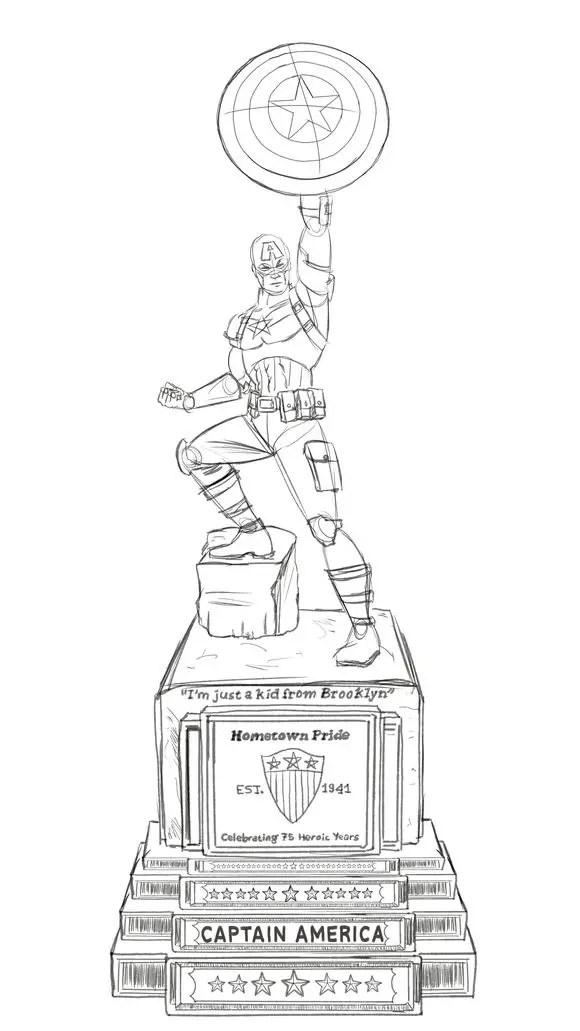 Sketch-Cap-Statue-escultura-capitan-america