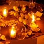 iluminación decorativa con velas