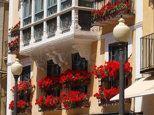 decoración de balcones con flores