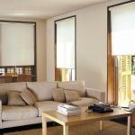 Cortinas roller black out en color blanco