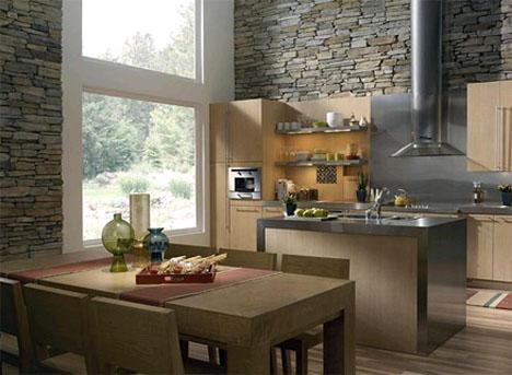 Revestimiento de piedra elegancia y solidez - Decoracion paredes piedra ...