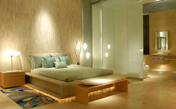 Decoración de dormitorios en color verde