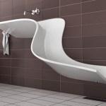 Moderno lavatorio minimalista de diseño exclusivo