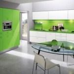 Decoración de cocina con color verde