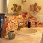 Decoración de baño con mosaicos