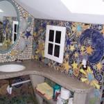 Decoración de paredes de baño con mosaiquismo