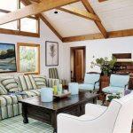 Living room con estilo de playa