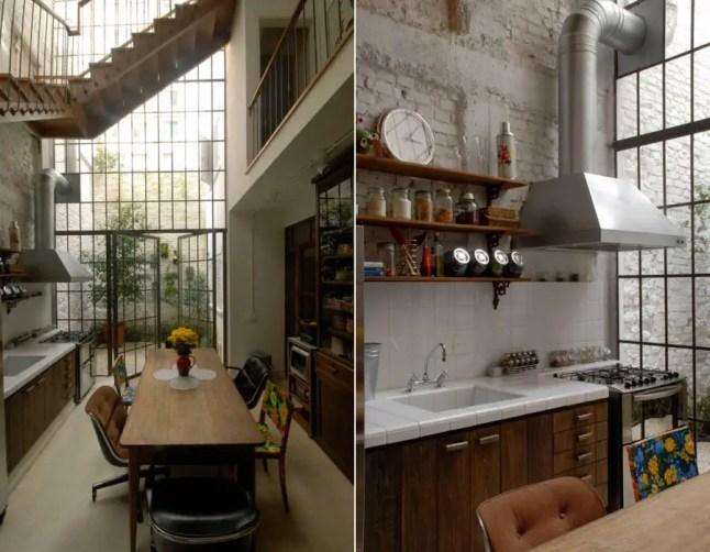 une maison comme un loft industriel planete deco a homes world. Black Bedroom Furniture Sets. Home Design Ideas