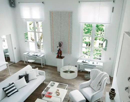 un appartement parisien tout blanc planete deco a homes world. Black Bedroom Furniture Sets. Home Design Ideas