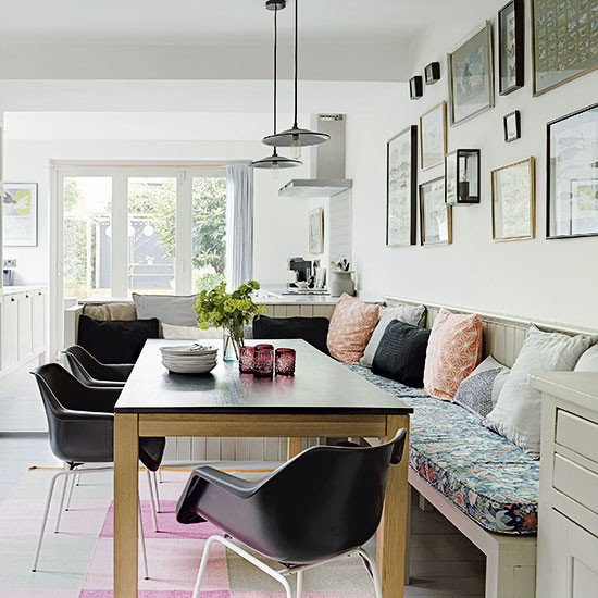 Une maison rajeunie londres planete deco a homes world - Deco woonkamer eetkamer ...