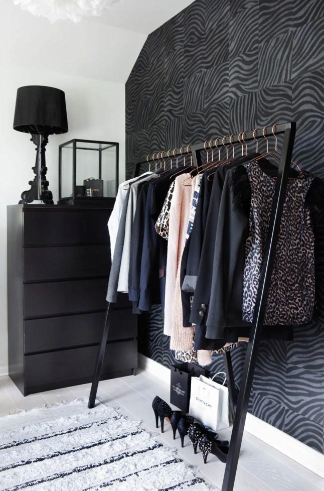 czarna garderoba