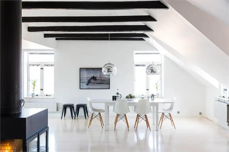 Un loft minimaliste et scandinave planete deco a homes for Deco salle noir et blanc