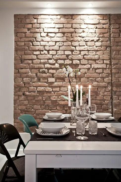 Le mur de briques joue les vedettes planete deco a homes - Ladrillo visto interior ...