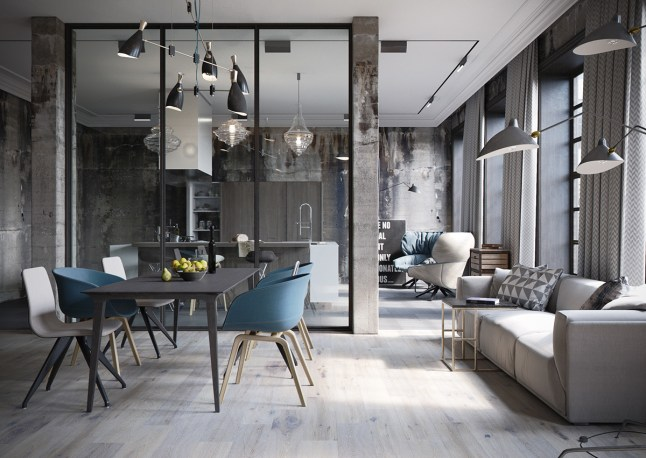 Un loft de style industriel en allemagne planete deco a homes world blogl - Loft industriel deco ...