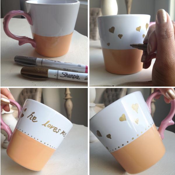 DIY heart mug