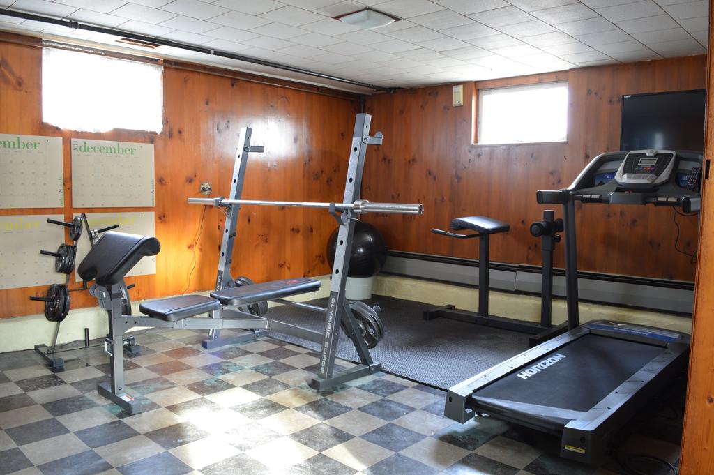 Basement home gym -- Plaster & Disaster