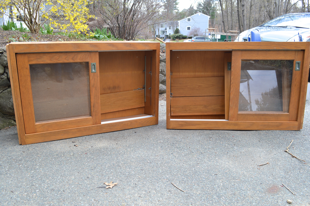 Salvaged cabinets -- Plaster & Disaster